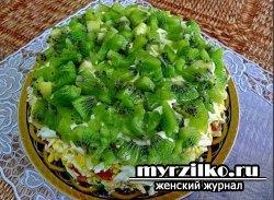 Рецепт приготовления салата красивая парочка.