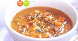 Чечевичный суп с копченым беконом