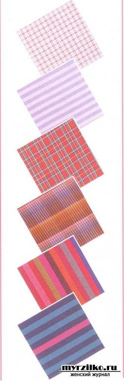 Работа с тканями в полоску и клетку - советы по шитью